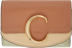 Tan Small Chloe C Tri-Fold Wallet