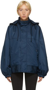 Blue Upside Down Windbreaker Jacket