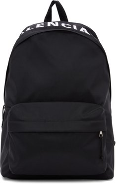 Black and White Wheel Backpack