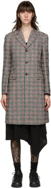 Pink and Green Check Back Cut-Out Coat