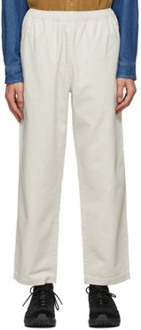 Off-White Brushed Beach Trousers
