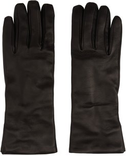Black Leather Classic Gloves