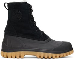 SSENSE Exclusive Black and Beige Anatra Boots