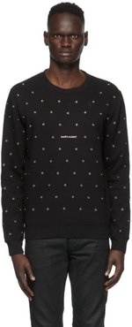 Black Eyelet Sweatshirt