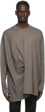 Taupe Twisted Long Sleeve T-Shirt
