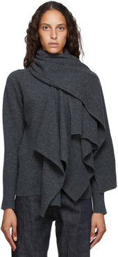 Grey Wool Muffler Turtleneck