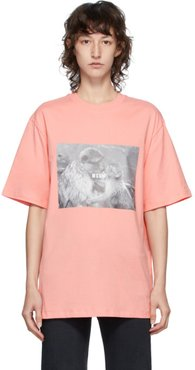 Pink Logo Monkey Graphic T-Shirt