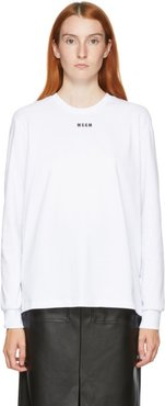 White Small Logo Long Sleeve T-Shirt