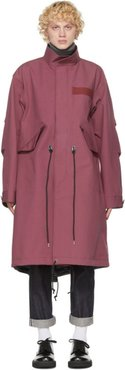 Pink Cotton Oxford Coat