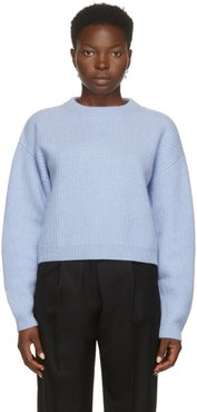 Blue Cashmere Eaton Crewneck Sweater