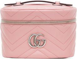 Pink GG Marmont 2.0 Zip Around Cosmetic Bag