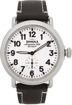 Silver and White The Runwell 41mm Watch