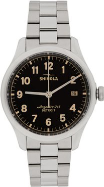 Silver and Black The Vinton 38mm Watch