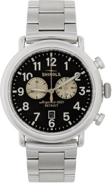 Silver and Grey The Runwell Chrono 47mm Watch