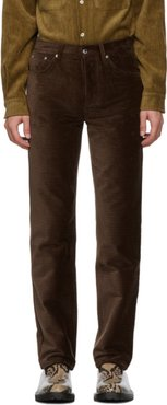 Brown Corduroy Sin Trousers
