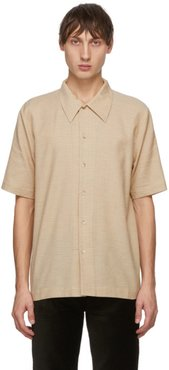 Beige and Brown Office Check Suneham Shirt