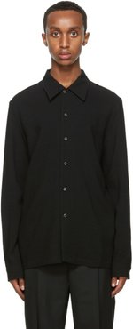 Black Wool Rampoua Shirt