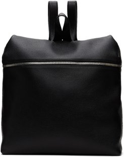 Black Leather XL Backpack