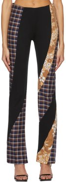 Black Ozzy Twisted Panel Trousers