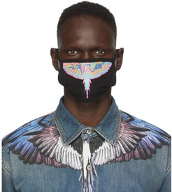 Black Psychedelic Wings Face Mask