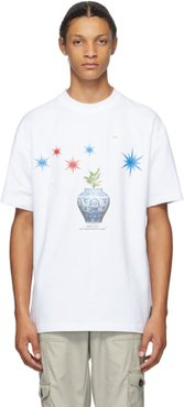 SSENSE Exclusive White Take Care of Your Grass Plant T-Shirt