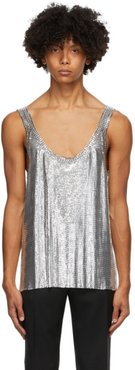 Silver Metal Chain Mail Tank Top