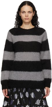 Black and Grey Mohair Heath Sweater