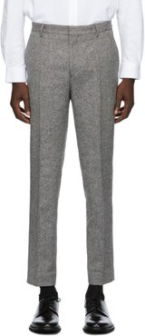 Black and Brown Wool Peter Trousers