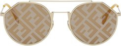 Gold Forever Fendi Eyeline Sunglasses