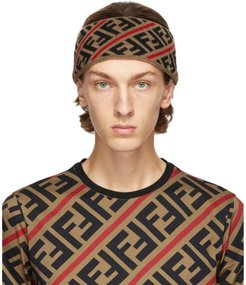 Brown and Red Forever Fendi Headband