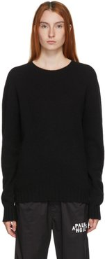 Black Wool Logo Sweater