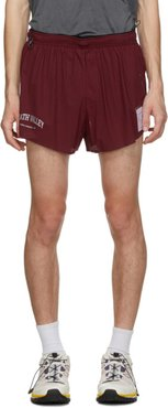 Burgundy Long Distance 2.5 Inches Shorts
