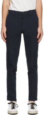 Navy Shadow Square Trousers