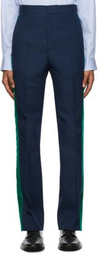 Navy and Green Dub Trousers