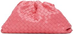 Pink Intrecciato The Pouch Clutch