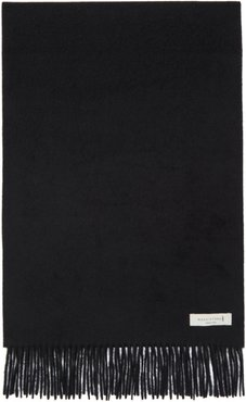 Black Cashmere Embroidered Scarf