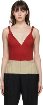 SSENSE Exclusive Red Twisting Tank Top