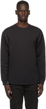Black Nylon Sweatshirt