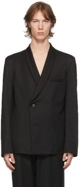 Black Wool Shawl Collar Blazer