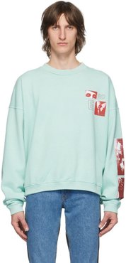 Blue Eyes Collage Sweatshirt