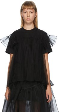 SSENSE Exclusive Black Tulle Overlay T-Shirt
