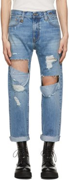 Blue Selvedge Ripped Sid Jeans