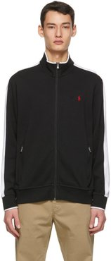Black Cotton Interlock Track Jacket