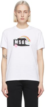 White Rainbow Logo T-Shirt