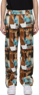 Multicolor Playboy Edition Corduroy Fawna Trousers