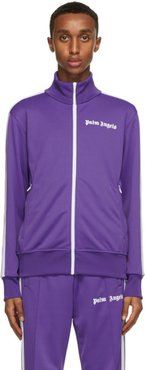 Purple and White Classic Track Jacket