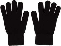 Black Wool and Cashmere Gloves