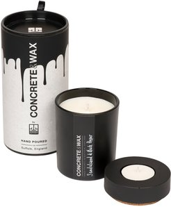 Sandalwood & Black Pepper Small Candle With Concrete Tealight Holder Lid