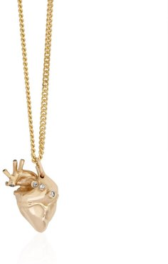 Small Heart Pendant Gold With Diamonds