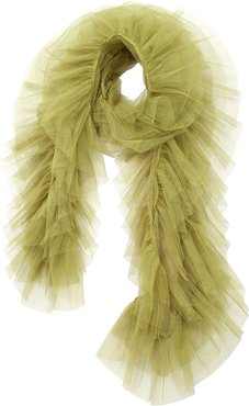 Tulle Scarf Olive Green